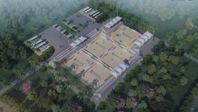 金华省运会新建场馆进展:沙滩排球比赛场馆,马术场馆,赛艇皮划艇、轮滑、小轮车比赛场地…